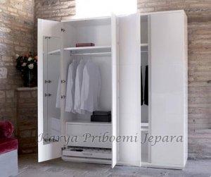 Almari Pakaian Minimalis Duco Putih