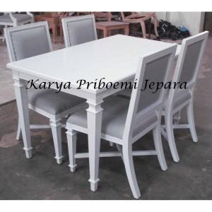Meja Makan Minimalis Duco Putih