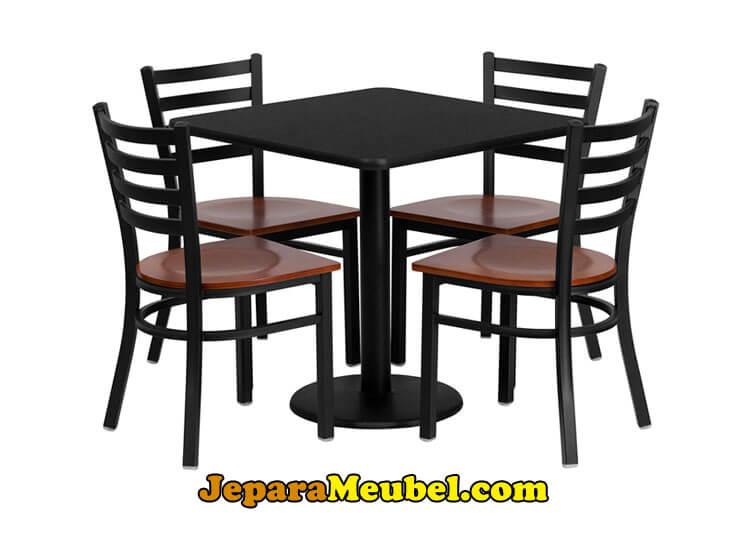 Meja Cafe Besi Dan Kayu Jati Mebel Industrial
